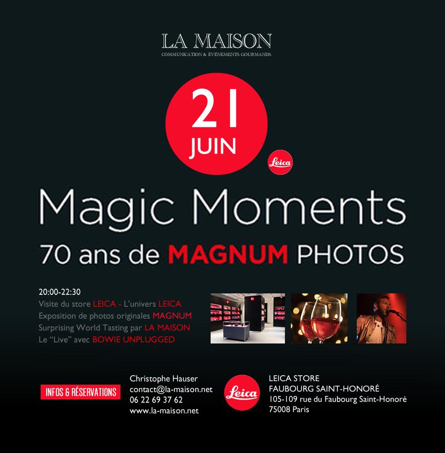 La Maison chez Leica le 21 juin prochain.